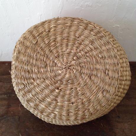 ベトナムのまるっこい手づくりかご handmade シーグラス ラウンド バスケットA Mサイズ AM-7