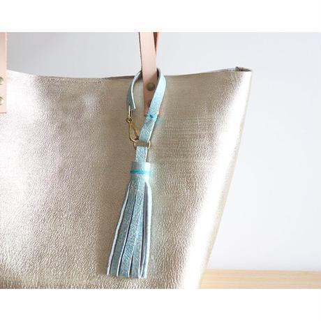 メタリックゴールドのトートバッグ GOLD&BLUE
