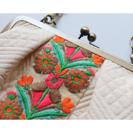 Provence × embroiderytrim  がま口お財布バッグ