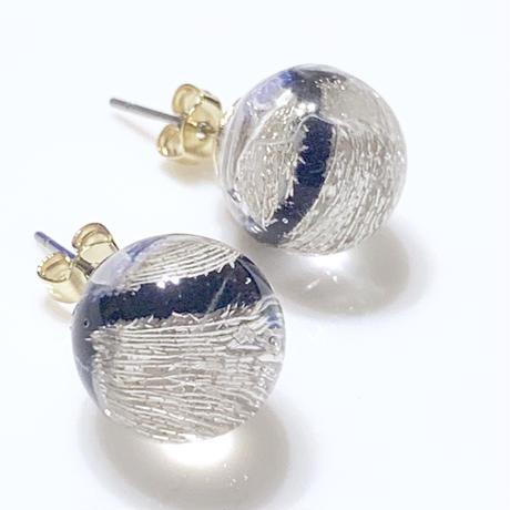 """""""piearced Earring  _ Line <Navy>"""