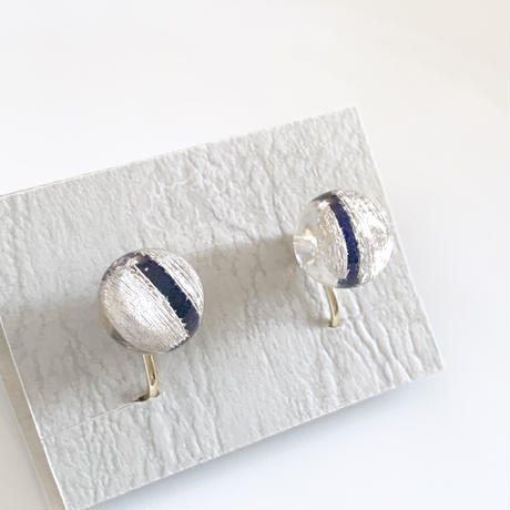 """""""Non hole  Earring  _ Line <Navy>"""