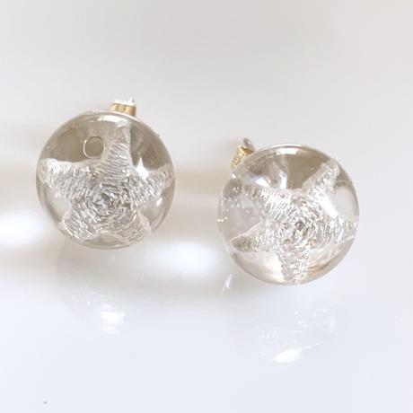 """""""piearced Earring  _ Star in the sphere  <silver>"""
