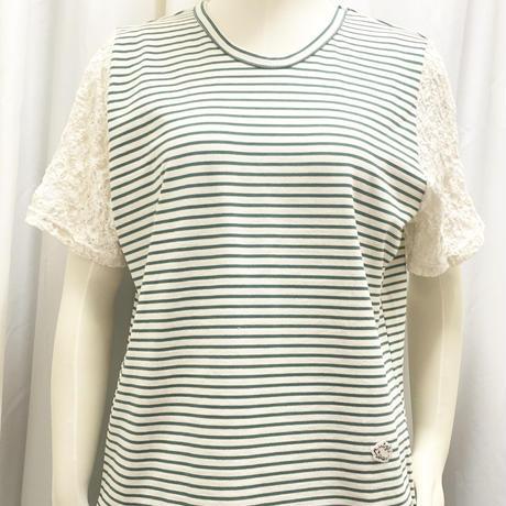 厚手ボーダーT-shirts  <Green>