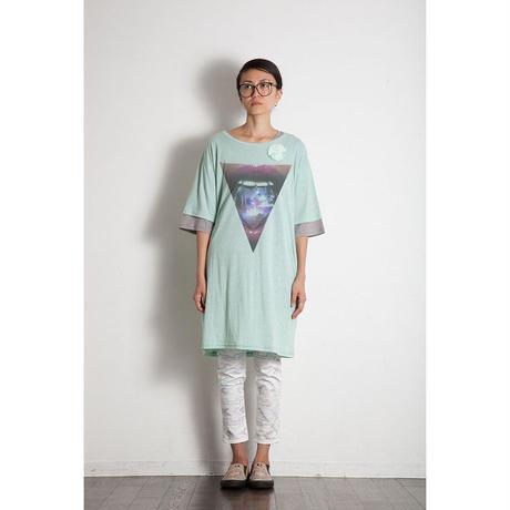 TlliangleダブルスリーブビッグTシャツ