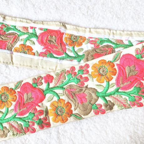 刺繍リボン●colorful pop● 50cm
