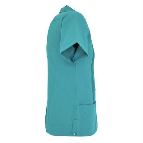 ピンタックキューバシャツ(半袖グアヤベラシャツ) オープンカラー / 開襟 シャツ ターコイズ