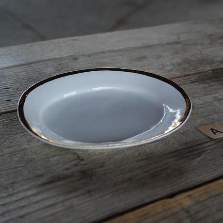 中囿義光, 楕円平皿、ゴールド