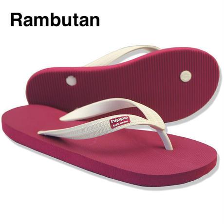 Hippobloo, ビーチサンダル, Rambutan, ロゴ貼り付け型