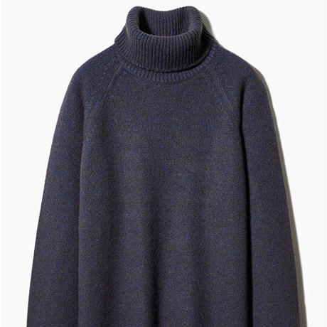 SIDE SLOPE, Knit Turtle-Neck Pullover YAK100%