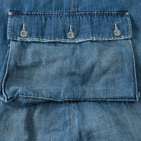 Nigel Cabourn,NAVAL DUNGAREE/KUROKI DENIM-With Holes-