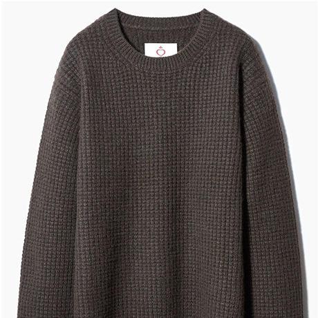SIDE SLOPE, Knit Pullover YAK100%_waffle