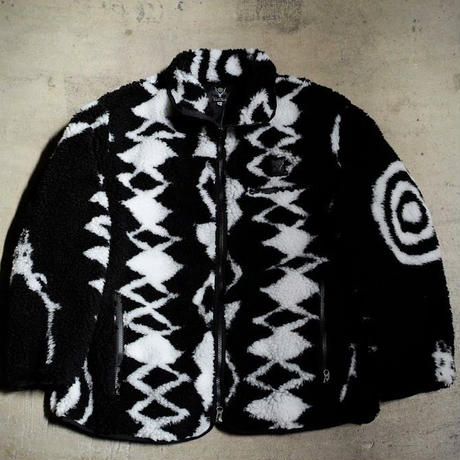 South2 West8,Piping Jacket - Poly Jacquard Pile / S2W8 Native Pattern