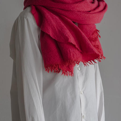 LOCALLY, chambray cut stole(red/pink)