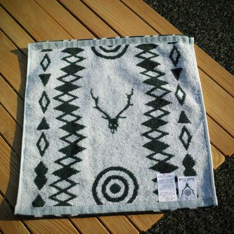 South2 West8, Wash Towel - Cotton Jacquard / Target & Skull