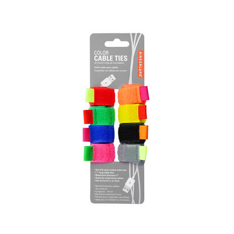 KIKKERLAND,Color Cable Ties set of 8