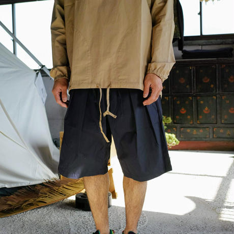 Monitaly, Drop Crotch Shorts, Vancloth Oxford Navy