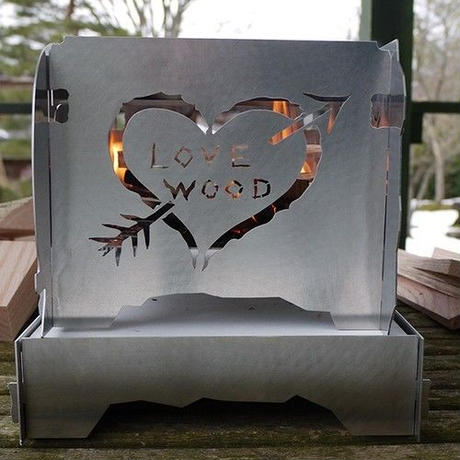 OUTSIDE IN   Stainless Steel Fire Stove