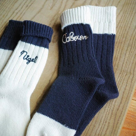 Nigel Cabourn,Embroidery Socks(Wool)