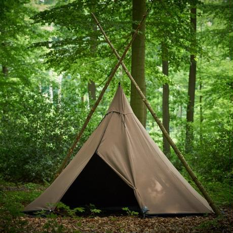 <受注生産商品> Tschum チャン, 4P KATUN tent, nut brown