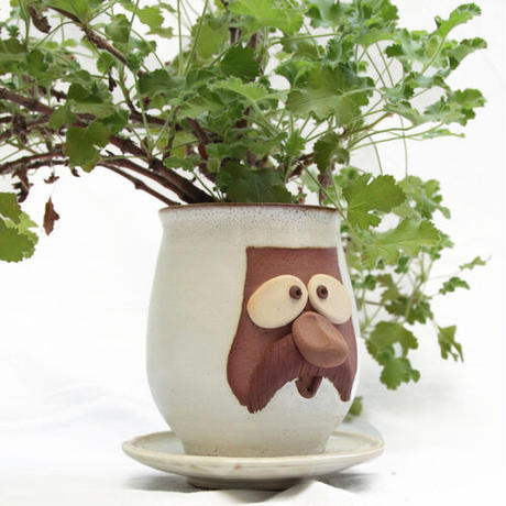 BROWN by 2-tacs, Funny face pot(B-F012)