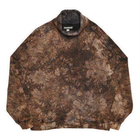 Monitaly, Turtleneck Sweatshirt Tie Dye
