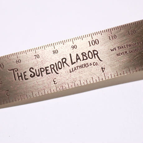 THE SUPERIOR LABOR,15cm brass ruler