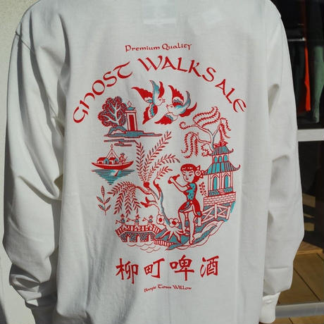 TACOMA FUJI RECORDS, GHOST WALKS ALE LS shirt