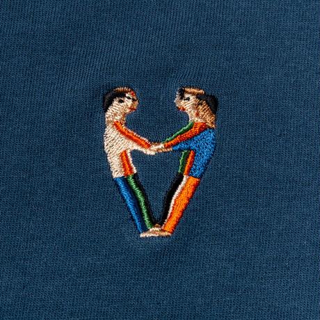 TACOMA FUJI RECORDS, FREE FEELING LS embroidery shirt