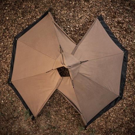 <受注生産商品> Tschum チャン, 4P KATUN tent, nut brown