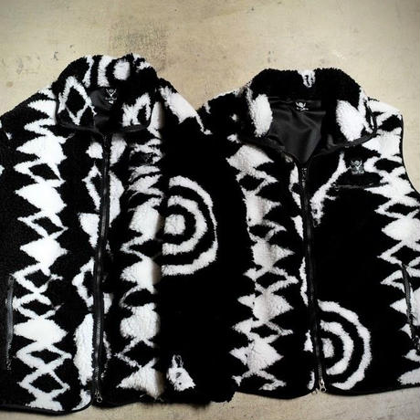 South2 West8,Piping Vest - Poly Jacquard Pile / S2W8 Native Pattern