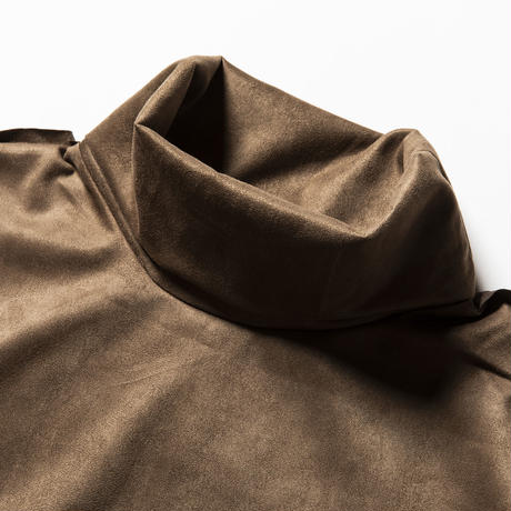 meanswhile, Suede Split Sleeve Turtleneck