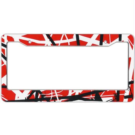 EVH Striped License Plate Frame [#DM002]