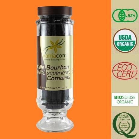 オーガニック バニラビーンズ(コモロ産) 『バニラブルボン』200g入瓶