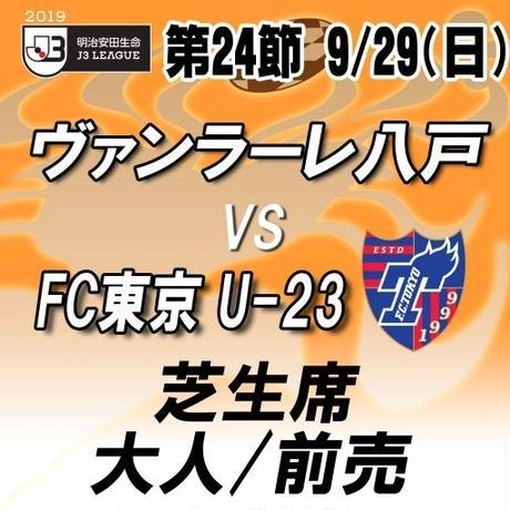 2019年9月29日(日)J3第24節 ヴァンラーレ八戸vsFC東京U-23 芝生席 大人/前売