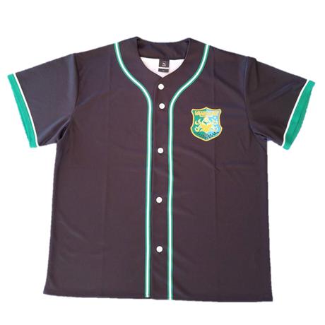 2021 ヴァンラーレベースボールシャツ (ブラック×グリーン)
