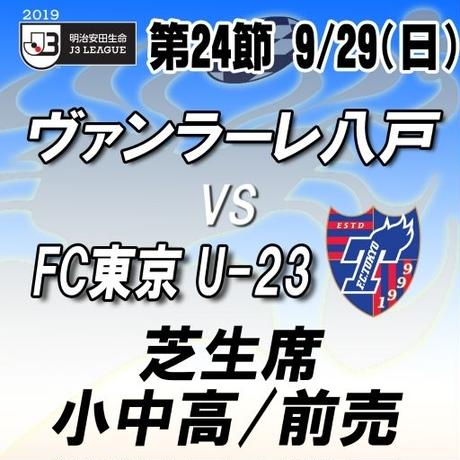 2019年9月29日(日)J3第24節 ヴァンラーレ八戸vsFC東京U-23 芝生席 小中高/前売