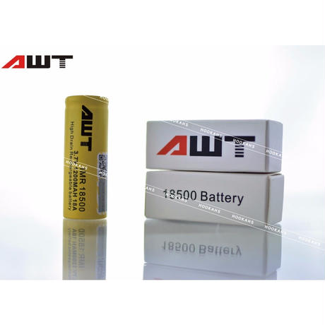 AWT 18500 18A IMR 1200mAh 3.7v Li-Mn Rechargeable Battery