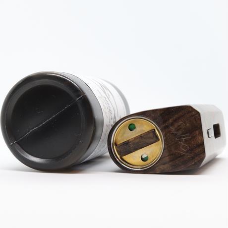 snBOX ハンドメイド スタビライズドウッド 18650 バッテリー SX350J chip ダークブラウンカラー