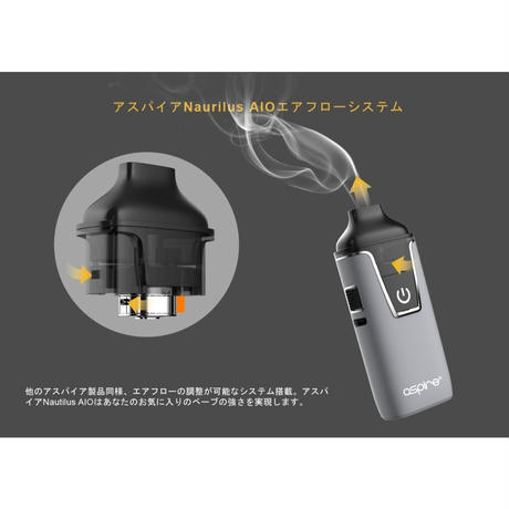 【PODシステム】Aspire Nautilus AIO KIT 6カラー