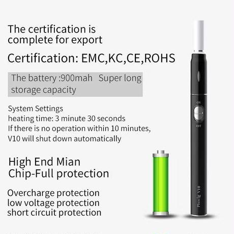 アイコス 互換機 iQOS 互換品 チェーンスモーク 最大15本   Pluscig V10 加熱式電子タバコ本体 連続 吸い チェーンスモーク 振動