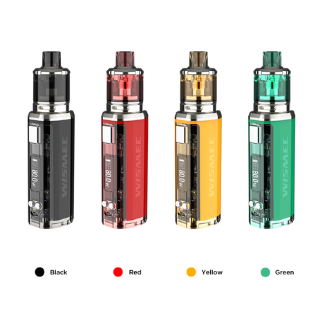 【VTC4 バッテリーセット】スターターキット WISMEC SINUOUS V80 with Amor NSE  スケルトンデザイン