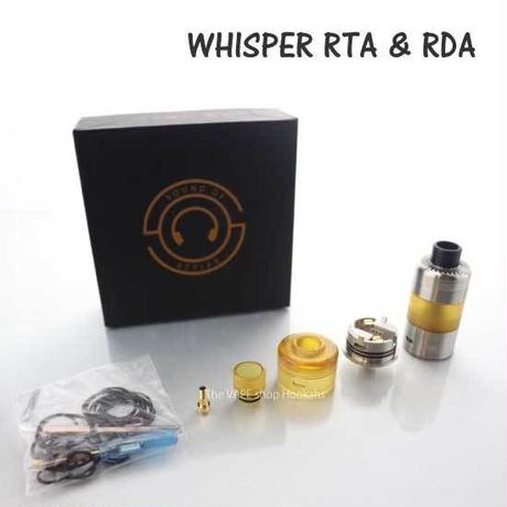 【MTL】Loud Cloud Mods  Whisper RTA & RDA  22mm ( SS BLACK 2色)