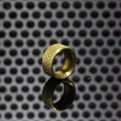 The Golden Greek GGTS-JustGG-Stealth-GGTB Button Locking Ring Brass