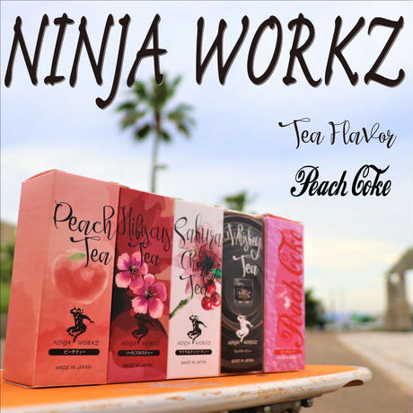 NINJA WORKZ premium E-lixirs 30mL Tea Flavor  & Peach Coke 5種