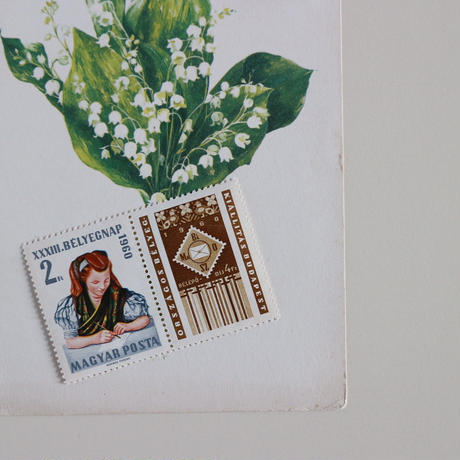 民族衣装の少女の切手シート
