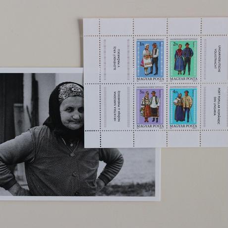 民族衣装の男女ペアの切手シート