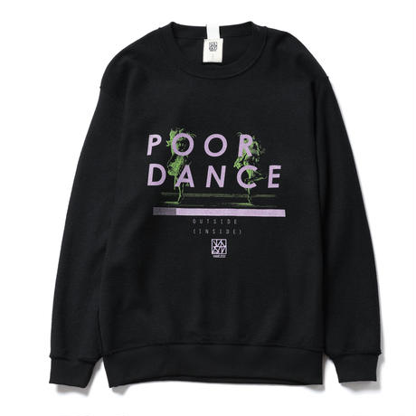 """POOR DANCE"" SWEAT / black"