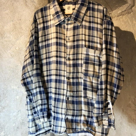 NEL CHECK SHIRT / blue