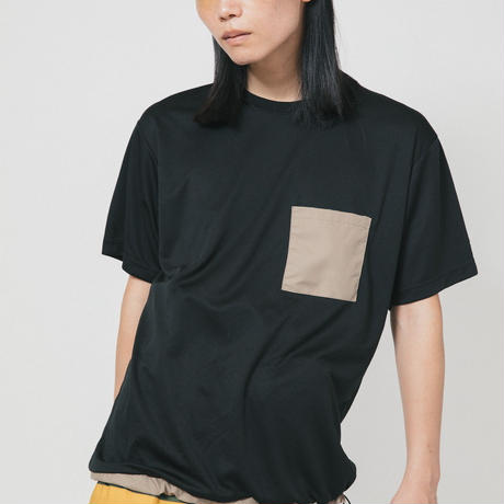POCKET TEE / black