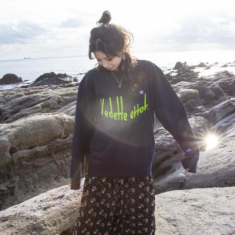 VEDETTE ERROR(ヴェデットエラー) LOGO sweatshirt (navy)